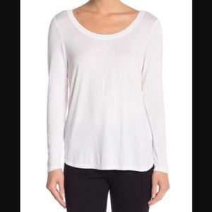 H By Bordeaux Long Sleeve Scoop Neck Tee